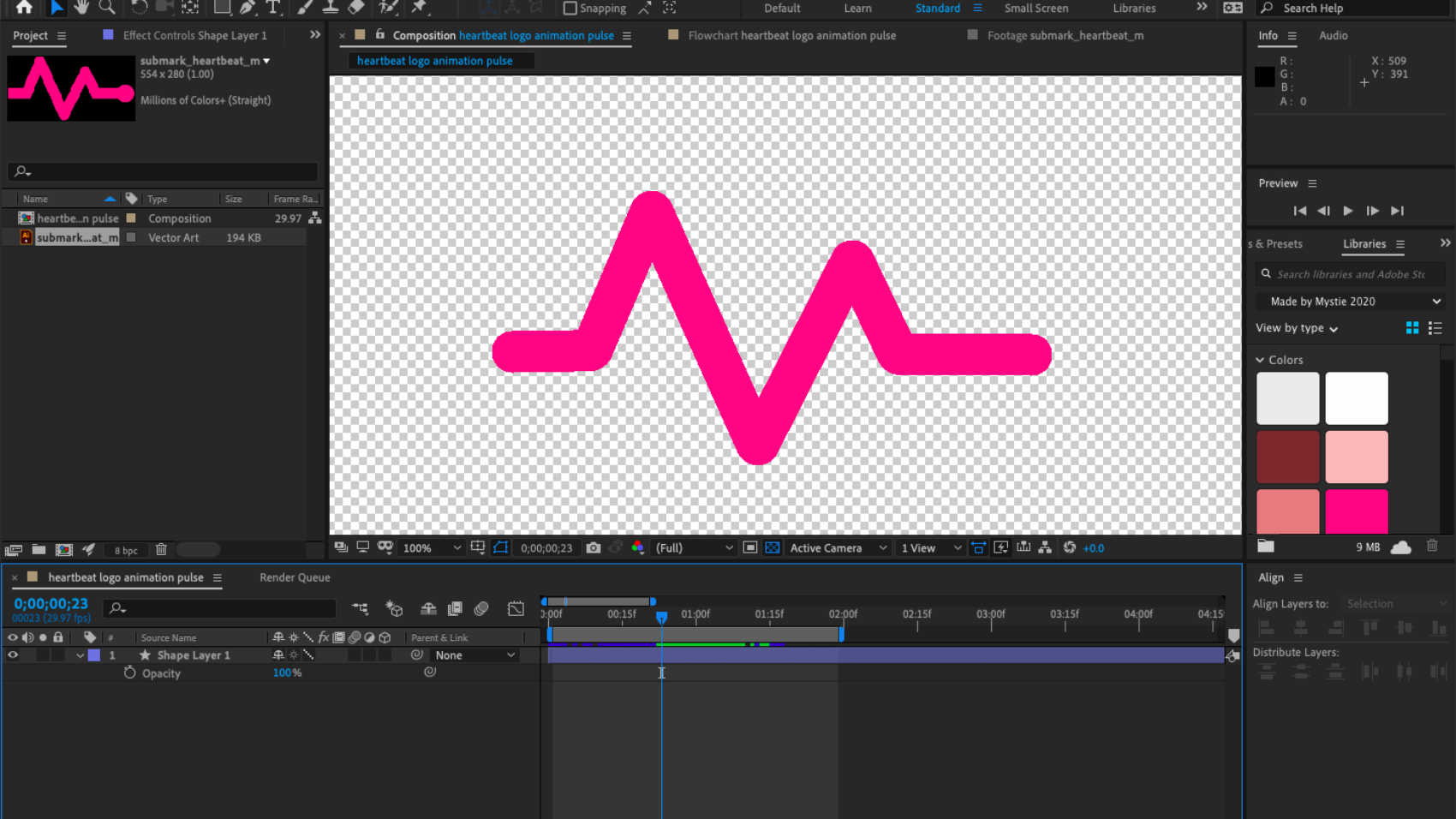 branded logo animation