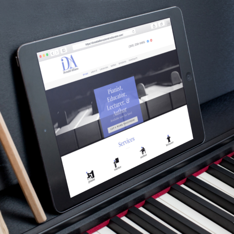 new site iPad Air on piano